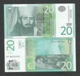 SERBIA  20   DINARI  DINARA   UNC  2013  [1]  P- 55 b  , necirculata