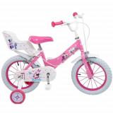 Bicicleta Minnie Mouse Club House 14 inch Roz