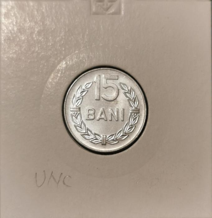 Moneda Romania 15 Bani 1975 UNC