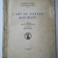 L'art du paysan roumain - G. Oprescu, 1937. Arta țărănească românească