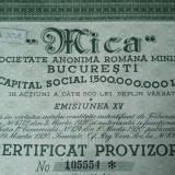 10000 Lei 1945 Mica Bucuresti Certificat provizoriu actiuni vechi Romania 105554
