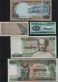 Set #2 Asia / 10 bancnote diferite necirculate / vezi scan