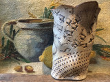 Arta / Decor - Vaza deosebita din ceramica lucrata manual design Inger Wistedt !