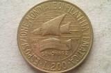 MONEDA 200 LIRE 1992-ITALIA (Philatelic Genoa '92), Europa