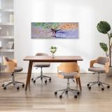 Set tablouri din pânză, copac în ploaie, multicolor, 120x40 cm, vidaXL