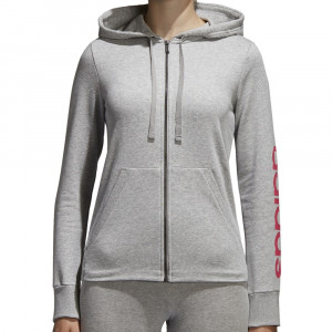 Hanorac Adidas Essentials Linear Full Zip pentru femei - hanorac original