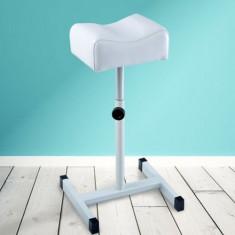 Suport Pedichiura Picior Scaun Picioare Reglabil Inaltime Ucenic Profesional Alb
