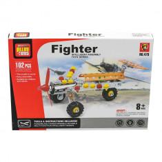 Joc constructii tip lego tehnic avion de vanatoare 102 piese