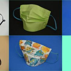 5 Măști de protecție reutilizabile, bumbac 100%