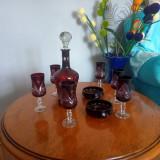 Set pahare rubin și cristal