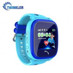 Ceas Smartwatch Pentru Copii Twinkler TKY-DF25 cu Functie Telefon, Localizare GPS, Pedometru, SOS, IP54 - Albastru, Cartela SIM Cadou