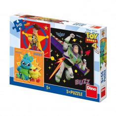 Puzzle 3 in 1Toy Story 4 Dino Toys, 55 piese, 5 ani+