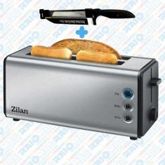 Prăjitor de pâine dublu ZILAN din inox, 1400W , 4 felii, 6 nivele