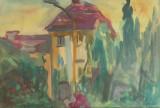 Tablou - acuarela pe hartie – semnat Iordache, Natura, Impresionism