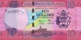 INSULELE SOLOMON █ bancnota █ 10 Dollars █ 2017 █ semnatura 11 █ UNC