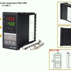Termostat electronic Controler temperatura PID 0-400 REX-C400 cu sonda K