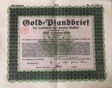 500 Goldmark Titlu de stat Germania 1928