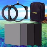 Set filtre Zomei 110x150mm ND2 ND4 ND8 ND16 + geanta + adaptor 82mm, 80-90 mm, Neutru