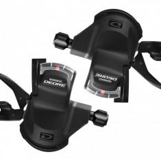 Manete De Schimbator Deore Sl M610 Set Stg+Drpt Cu Afisaj Cu Cabluri Negre