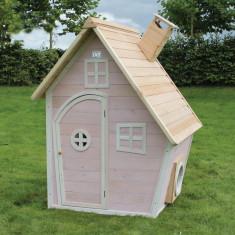 Casuta gradina pentru copii lemn EXIT Fantasia 100 Pink