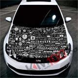 """Sticker Imprimat Color pentru Capota """"Hood Art"""" cod: KM-HOOD-126"""