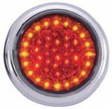 Lampa stop auto rotunda LED cu functii de Pozitie-Frana-Semn