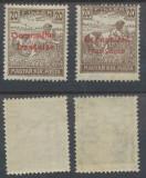 1919 emisiunea Arad timbru seceratori 20 filler un original si un fals MNH, Istorie, Nestampilat