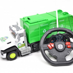 Masina de gunoi cu volan, sunete si lumini - MG96836