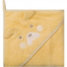 Prosop de baie cu gluga imprimeu animal 100 x 100 cm Womar Zaffiro Galben