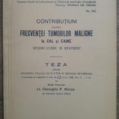 Contributiuni asupra frecventei tumorilor maligne la cal si caine/ 1936