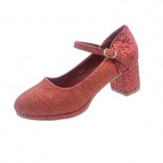 Pantofi cu toc fetite MRS M175, Rosu