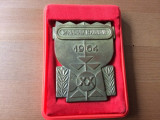 placheta spartachiada republicana 1964 RPR romania fan sport de colectie hobby