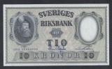 A5147 Sweden Suedia 10 kronor 1959 SEMNATURI DIFERITE UNC