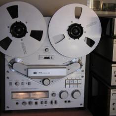 Magnetofon AKAI GX-646 (Ag) cu NAB-uri +2 role Revox Alu. argintii, stare f.buna