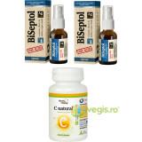 BiSeptol cu Albastru de Metilen si Argint Coloidal Spray 20ml (2buc) + C Natural (Vitamina C) cu Catina si Amalaki 60Cpr Cadou