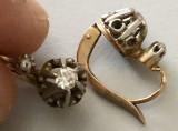 ***Cercei diamante aur 18 k