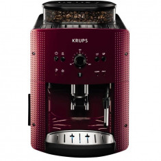 Espressor automat Espresseria Automatic EA8107, dispozitiv spumare, rasnita, ecran LCD, 15 bar, 1.7 l, rosu