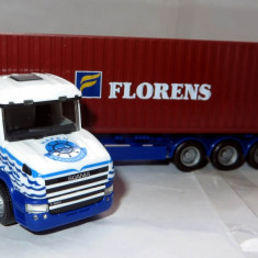 """Herpa Scania hauber container 40"""" Florens  1:87"""