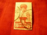 Timbru Eritrea colonie Italia 1931 , val. 5 lire stampilat