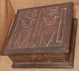 EGIPT cutie - caseta lemn - gravata manual - veche