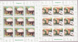 ROMANIA 2008 CIUPERCI Set 6 minicoli cu cate 9 timbre  LP.1792a  MNH**, Nestampilat