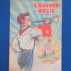 CRAVATA ROSIE , REVISTA PIONIERILOR SI SCOLARILOR , NR. 8 / 1961