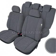 Set huse scaun model Elegance pentru Dacia Nova, culoare gri, set huse auto Fata + Spate