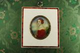 Miniatura portret profil rama fildes interior burgher