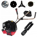 Motocoasa benzina Rupez RZT 4200, 4200W, 4 sisteme de taiere, set complet de accesorii, ELEFANT