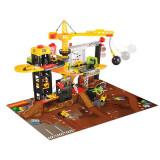 Set constructii santier cu macara, bila demolatoare, lift si 4 vehicule 3729010 Dickie Toys