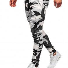 Pantaloni training cargo bărbați camuflaj-gri Bolf 1003