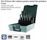 Cumpara ieftin Set 10 freze din carbura pentru metal dur prindere 6 mm