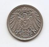 Germania 5 Pfennig  1908 F - Wilhelm II , 18 mm KM-11, Europa