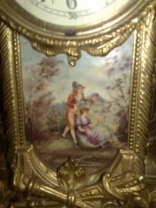 ceas semineu Lancini,portelan pictat